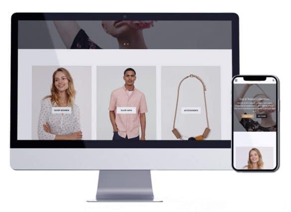 متجر ملابس | تصميم متجر الكتروني