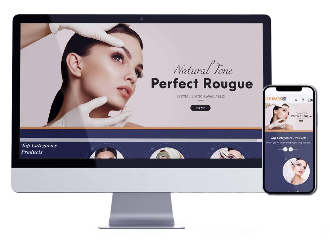 متجر لبيع مستحضرات التجميل | تصميم متجر الكتروني