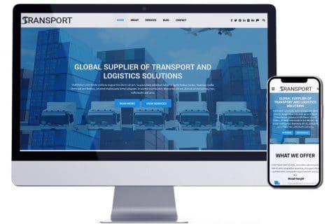 تصميم موقع الكتروني لشركة شحن
