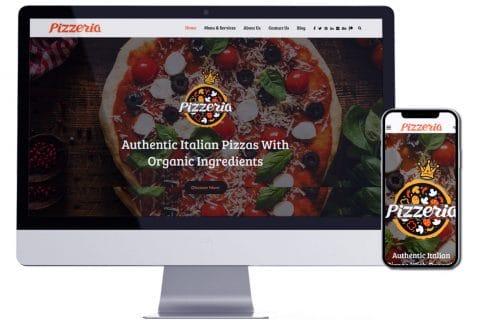 تصميم موقع الكتروني لمطعم بيتزا