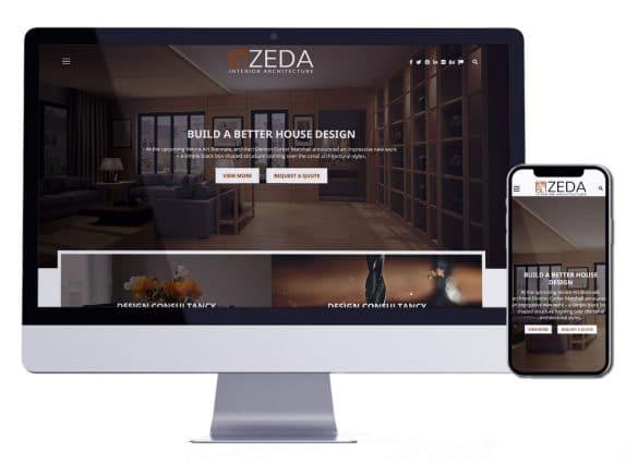 تصميم موقع الكتروني لشركات الديكور والتصميم الداخلي