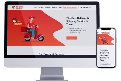 تصميم موقع الكتروني لشركة توصيل طلبات – Delivery