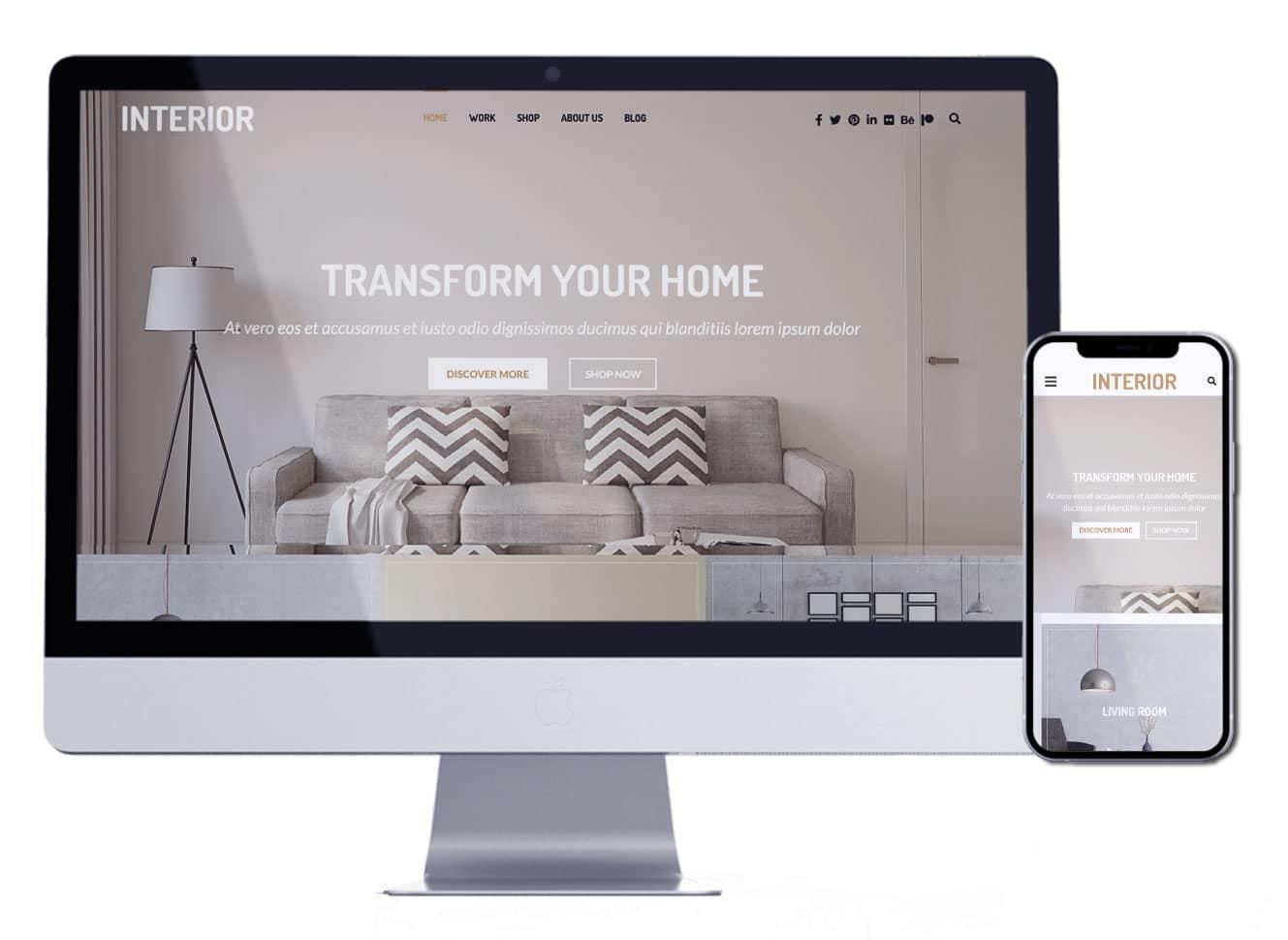 تصميم موقع الكتروني لمصممي الديكور